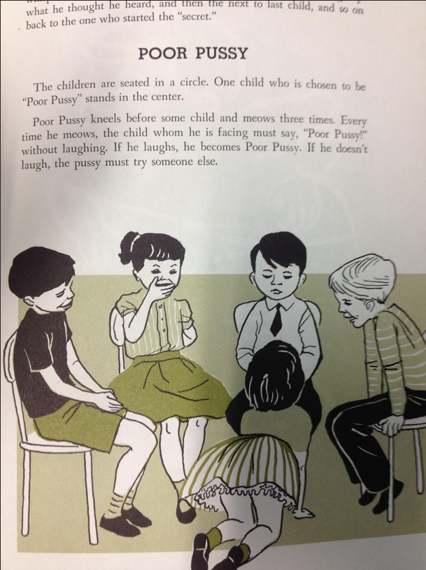 Poor pussy game, taken directly from a 1956 school book