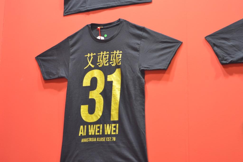 Anastasia Klose's ai weiwei t-shirt